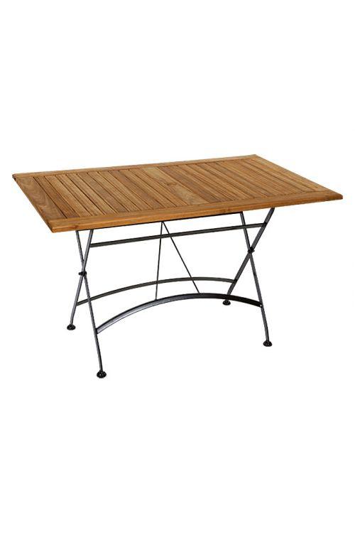 Zložljiva miza Sunfun Elements Moni (125 x 75 cm, akacija, naravne barve)