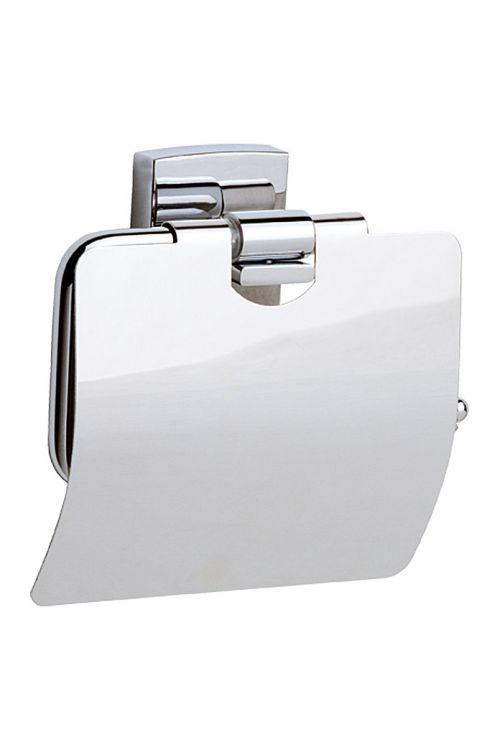 Nosilec toaletnega papirja KL236 Klaam, Nie wieder bohren (s pokrovom, krom)