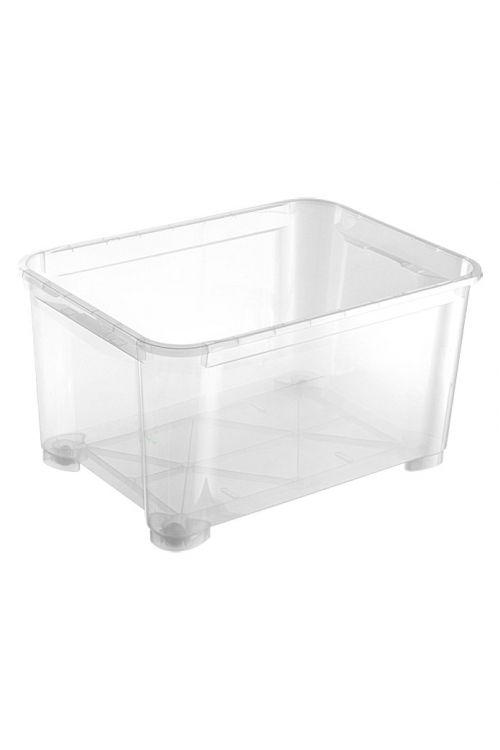 Prozoren zaboj za shranjevanje Regalux Clear Box XXL (145l, 79 x 57,7 x 44 cm, s kolesci)