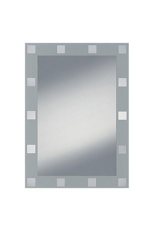 Ogledalo s sitotiskom Domino, Kristall-Form (srebrna, 50 x 70 cm)
