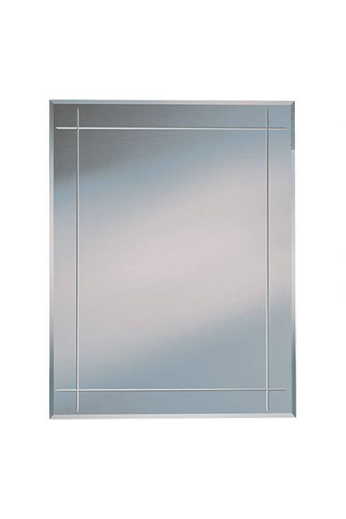 Ogledalo z zarezami Karo, Kristall-Form (oglat, 70 x 90 cm)