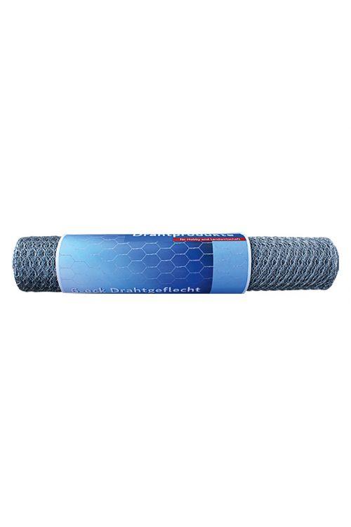 Pletena mreža Stabilit (10 x 0,5 m, širina zanke: 13 mm, srebrne barve, pocinkana)