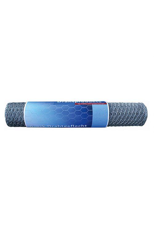 Pletena mreža Stabilit (10 x 0,5 m, širina zanke: 25 mm, srebrne barve, pocinkana)