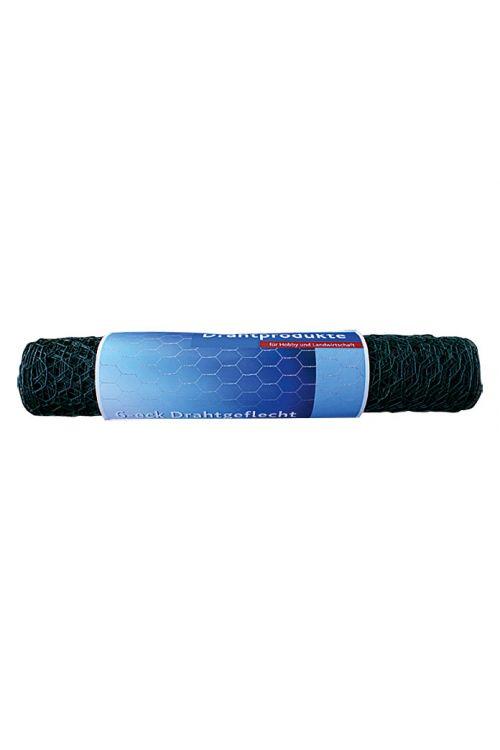 Pletena mreža Stabilit (10 x 0,5 m, širina zanke: 25 mm, zelene barve, prašno barvana)