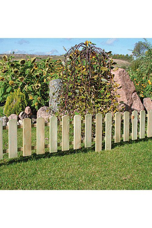 Mini ograja (120 x 45 cm, bor, impregnirana v kotlu pod pritiskom)
