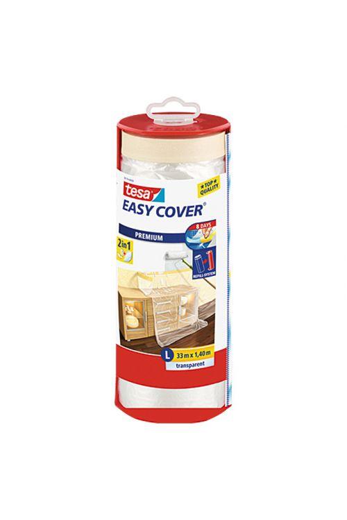 Prekrivna folija Easy Cover Premium tesa (vključno z odvijalnikom in rezilom za rezanje, 1,4 x 33 m, velikost: L, enostranski krep lepljivi rob)