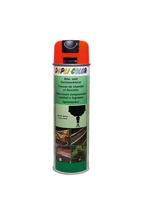 Barva za označevanje Dupli Color za uporabo v gradbeništvu in gozdarstvu (barva: svetleče rdeča; intenzivna barva; 500 ml)