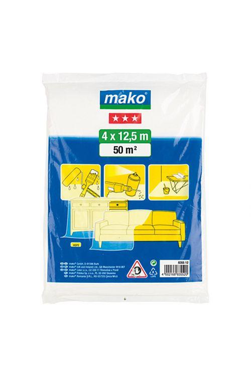 Ponjava za zaščito površin med pleskanjem Mako (4 x 12,5 m, srednje debela)