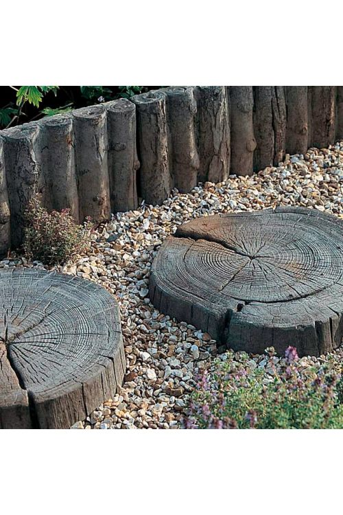 Vrtna plošča drevesni kolobar EHL (naravno rjava, premer: 300–450 mm, Stonewood, beton)
