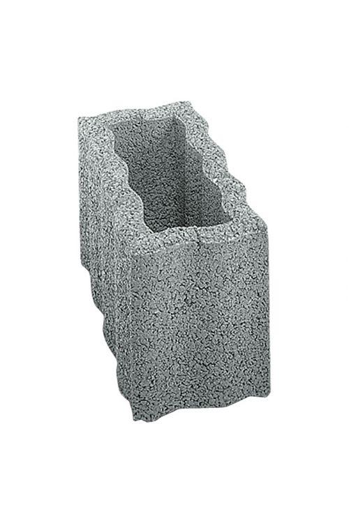 Valovit robnik (siva, beton, 40 x 20 x 25 cm)