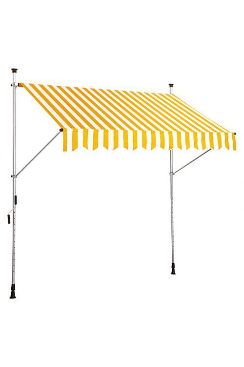 Zatična markiza sunfun (siva/bela, širina: 3 m, izmet: 1,3 m)