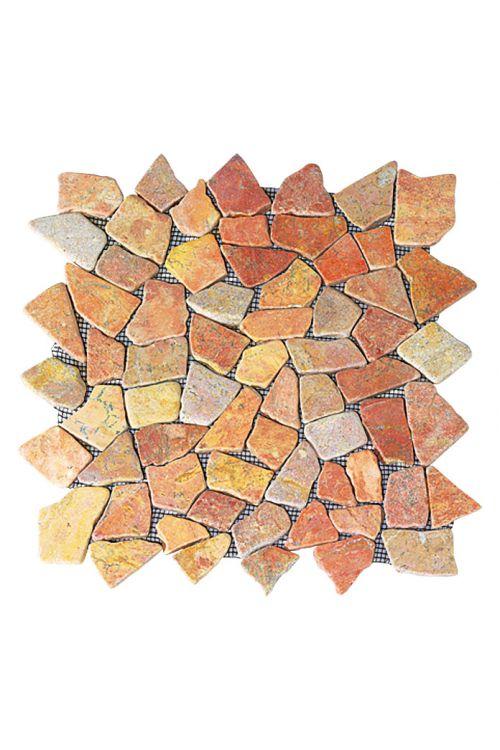 Lomljeni mozaik Marmor (30 x 30 cm, bel, mat)