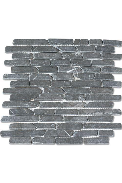 Mozaik s palčkami Brique (29,5 x 28 cm, siv, mat)