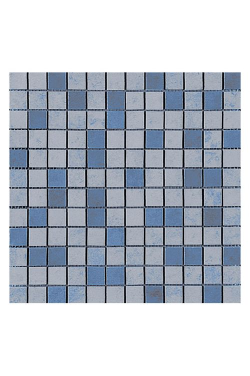 Mozaik ploščice Sheet (30 x 30 cm, siva/modra, glazirane)