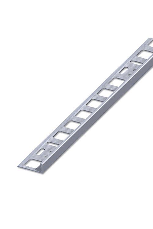 Profil za keramične ploščice (aluminij, neobdelan, 2,5 m x 12,5 mm)