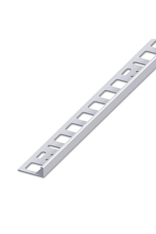 Profil za keramične ploščice (aluminij, srebrn, eloksiran, 2,5 m x 8 mm)