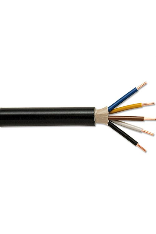 Zemeljski kabel (NYY-J 5 x 2,5, 50 m, črn)