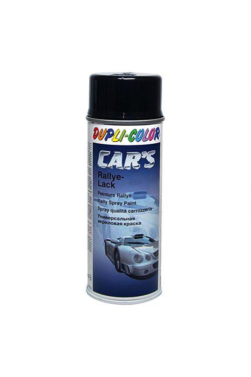 Lak v pršilu Dupli-Color CAR'S Rallye (črn, sijoč, 400 ml)