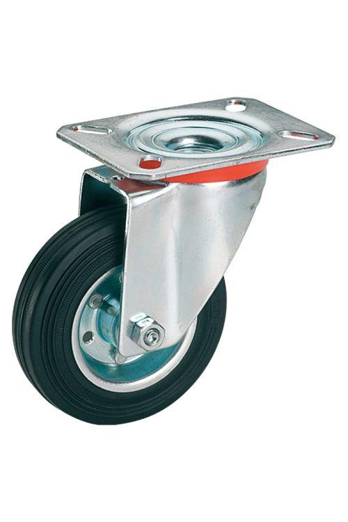 Vrtljivo kolo Stabilit (premer kolesca: 100 mm, nosilnost: 70 kg, valjčni ležaj, s ploščo)
