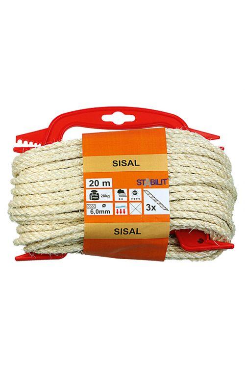 Vrv iz sisala Stabilit (6 mm x 20 m, trojno pletena)