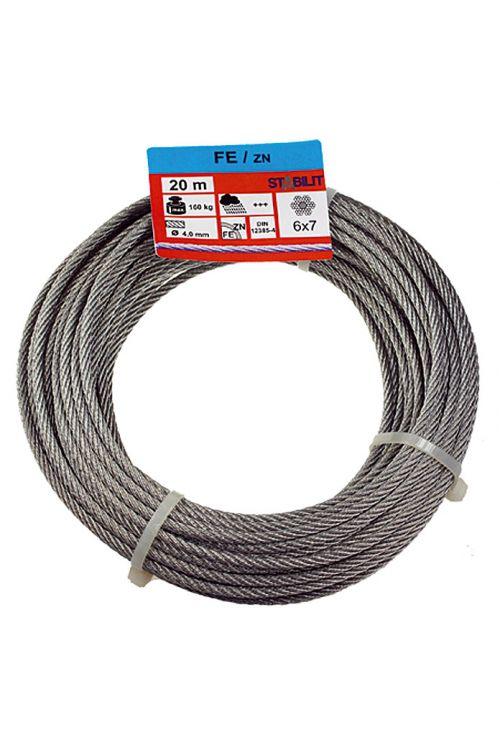 Žična vrv Stabilit (obremenljivost: 160 kg, 4 mm x 20 m, pocinkana)