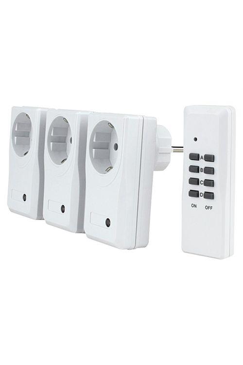 Set brezžičnih stikal Voltomat 3+1 (bel, domet: 25 m, maks. zmogljivost: 1000 W)