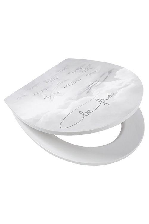 WC deska POSEIDON Be Free (duroplast, počasno spuščanje, snemljiva, bela)
