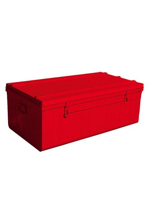 Nosilni zaboj iz jeklene pločevine (40 x 100 x 55 cm, rdeč)