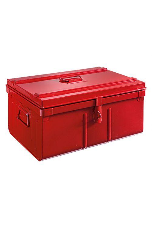 Jekleni zaboj Motobox (29 x 53 x 37 cm, rdeč)