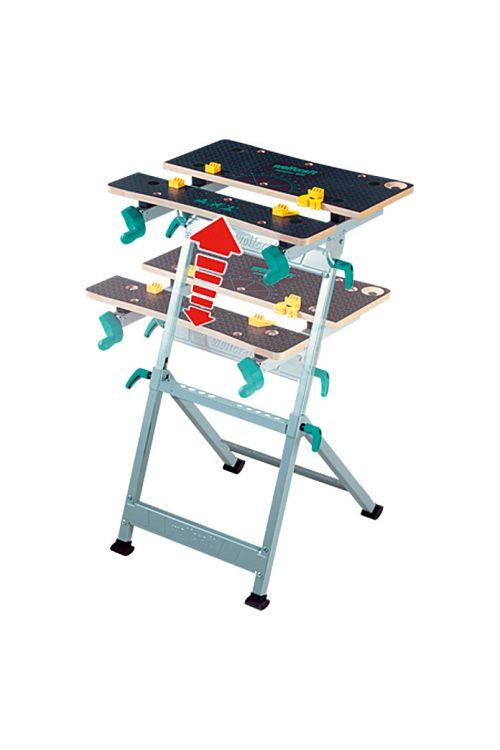 Vpenjalna delovna miza Wolfcraft Master 600 (delovna višina: 780–950 mm, velikost delovne mize: 65 x 42 cm)