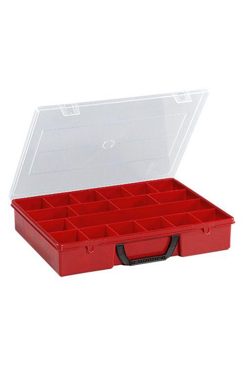 Organizator Wisent 4-18 (rdeč, število predalov: 18)