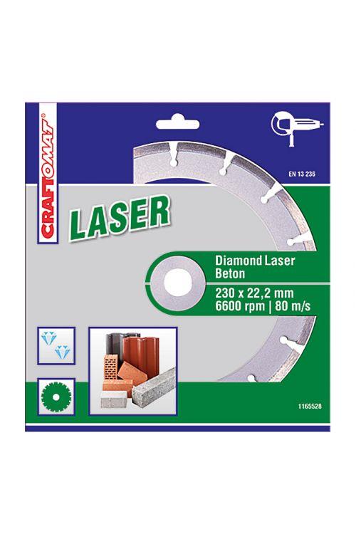 Diamantna rezalna plošča Craftomat (beton, premer plošče: 230 mm, lasersko varjena)