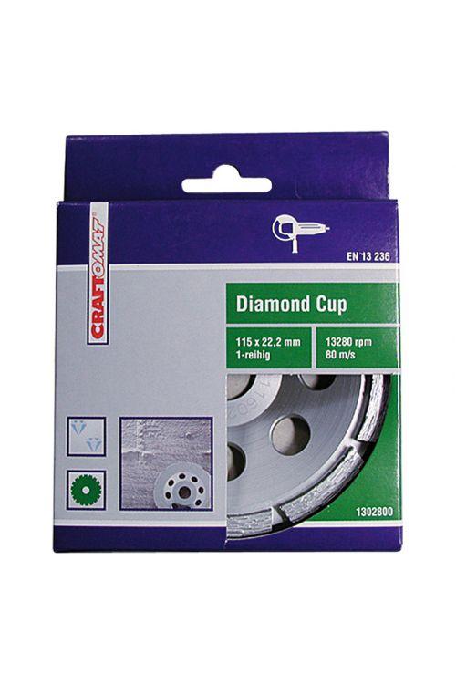 Diamantni brusni kolut Craftomat (beton, premer plošče: 115 mm, z diamantno prevleko)