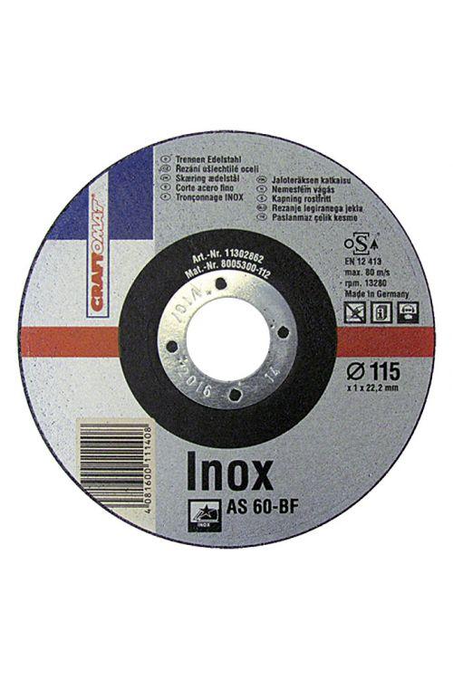 Rezalna plošča Craftomat AS 60T-BF (legirano jeklo, premer plošče: 115 mm, moč plošče: 1 mm)