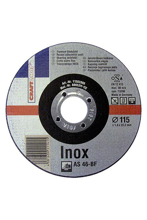 Rezalna plošča Craftomat AS 46T-BF (legirano jeklo, premer plošče: 115 mm, moč plošče: 1,6 mm)