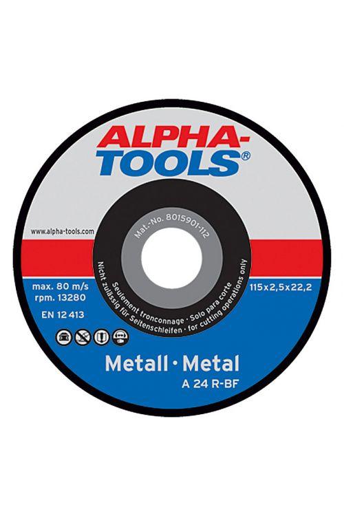 Rezalna plošča Alpha Tools A 24R-BF (kovina, premer plošče: 115 mm, moč plošče: 2,5 mm, 10 kosov)