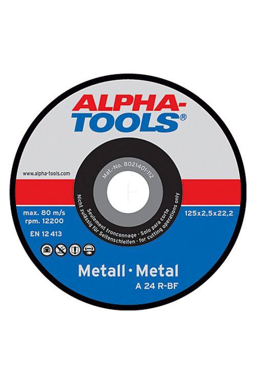 Rezalna plošča Alpha Tools A 24R-BF (kovina, premer plošče: 125 mm, moč plošče: 2,5 mm, 10 kosov)