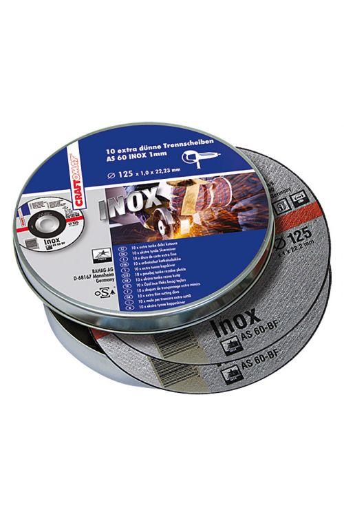 Rezalna plošča Craftomat AS 60T-BF (legirano jeklo, premer plošče: 125 mm, moč plošče: 1 mm, 10 kosov)