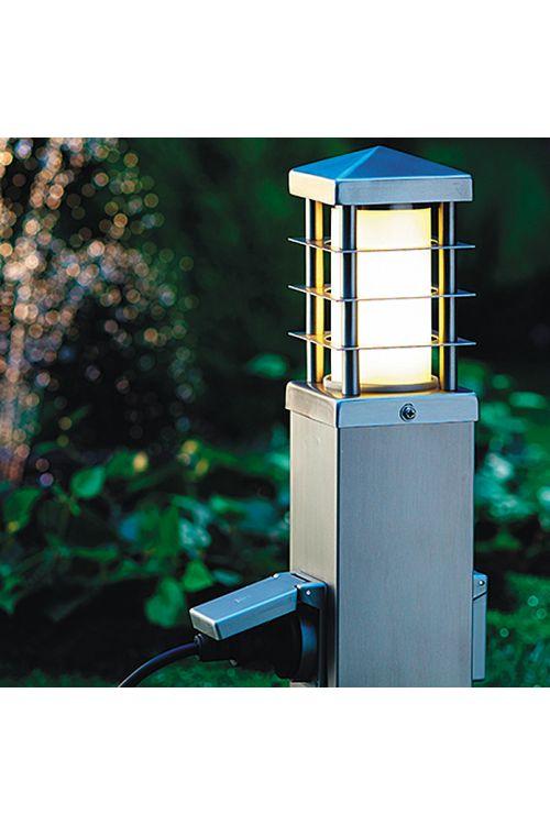 Zunanja stoječa svetilka Starlux Gomera z vtičnicami (število varnostnih vtičnic: 2, energetski razred: A++ do E)
