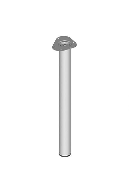 Pohištvena noga Element System (Ø x D: 60 x 700 mm, nosilnost: 75 kg, barva: bel/aluminij