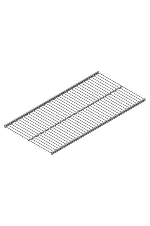 Mrežna polica Element System Twin Vario (90 x 40 cm, primerna za: Nosilec mrežnih polic Twin, bela/aluminij)