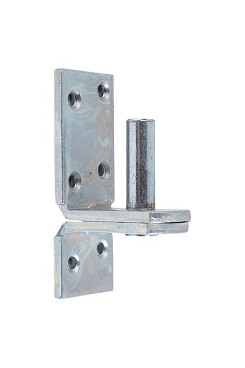 Nasadilo za vrata Stabilit (premer vezne osi: 13 mm, razmik med vezno osjo in ploščo: 25 mm (D II), 99 x 39 mm)