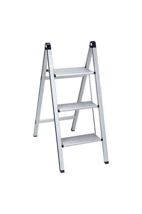 Aluminijasta gospodinjska lestev Stabilomat Basicline Slim 2+1 (delovna višina: 2,75m, nosilnost 150 kg)