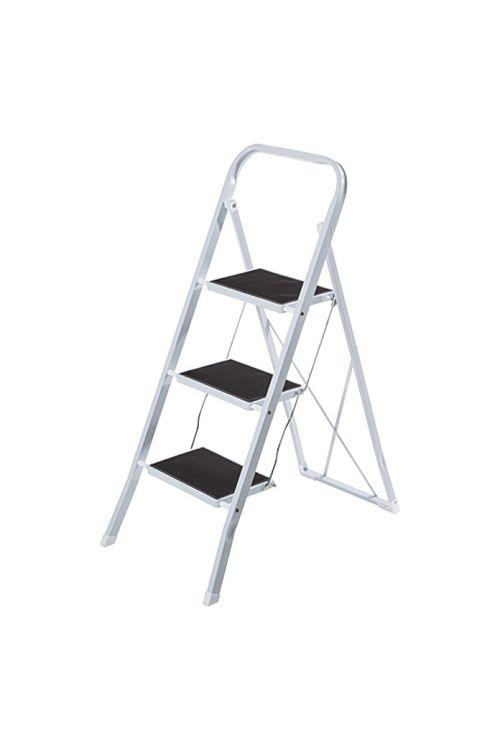 Kovinska gospodinjska lestev 2+1 (delovna višina: 2,7 m, nosilnost 150 kg)
