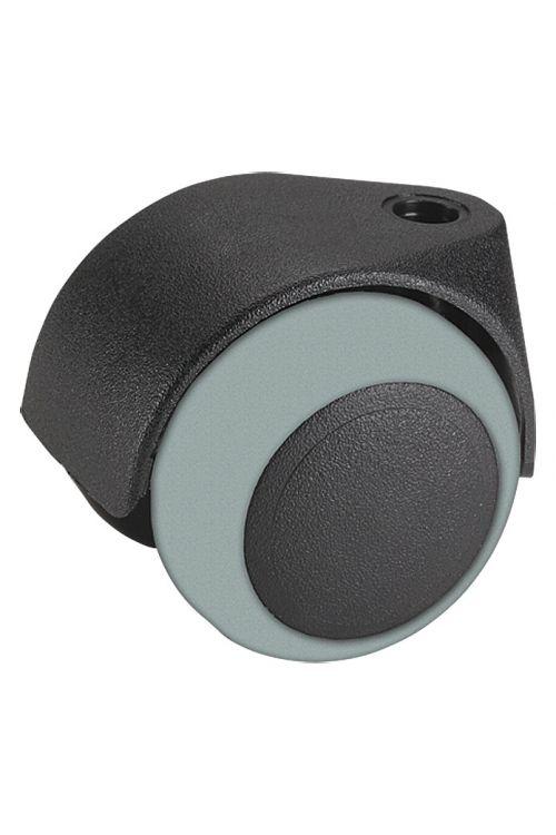 Vrtljivo kolo Stabilit (premer: 50 mm, nosilnost: 40 kg, črno, PVC)