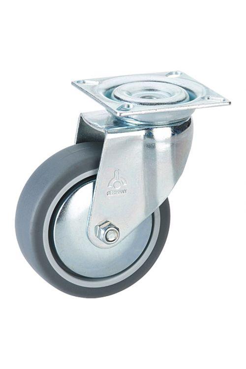 Vrtljivo kolo Stabilit (premer kolesca: 75 mm, nosilnost: 50 kg, drsni ležaj, s ploščo)