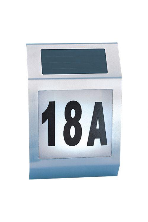 Solarna hišna številka Portaferm (legirano jeklo, trajanje vklopa: 12 h)