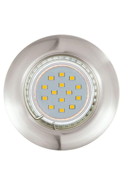 SET LED VGRADNIH SVETILK (3 x 3 W, GU10, 3.000 K, IP20, premer 7,8 cm, višina 6,8 cm, nikelj, mat, 3 kosi)