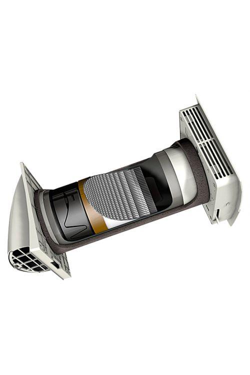 Izmenjevalnik toplote Marley MENV180 (3-7 W, Ø 180, pretok zraka 16/25/37 m3, primeren za zunanje stene 28-50 cm)