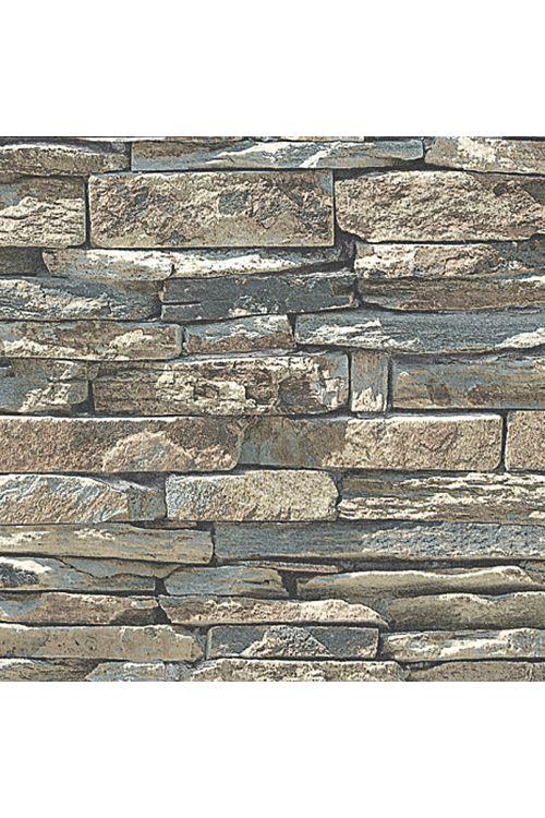 Tapeta iz netkane tekstilije my look Nature (naravna, videz kamenja, 10,05 x 0,53 m)